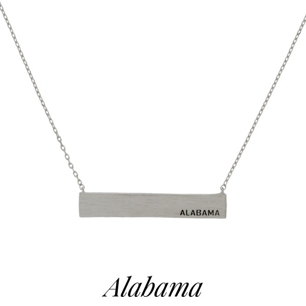 Wholesale dainty necklace bar pendant stamped state