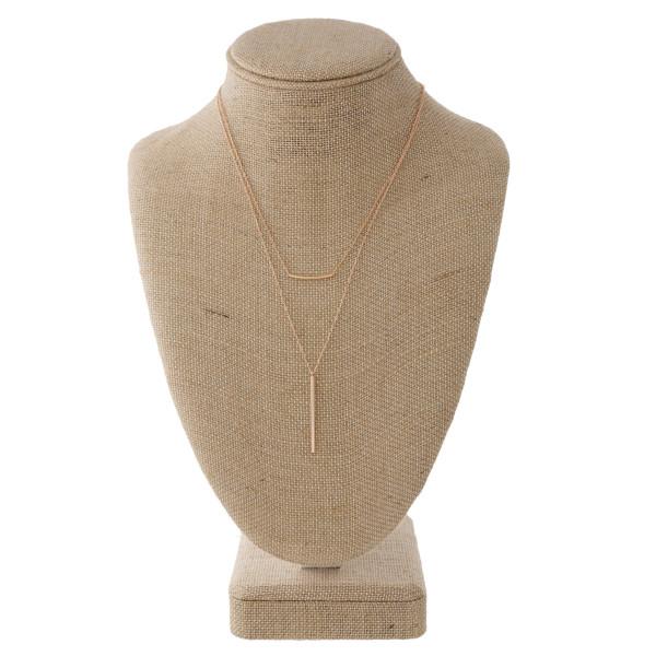 Wholesale dainty layered necklace bar pendant