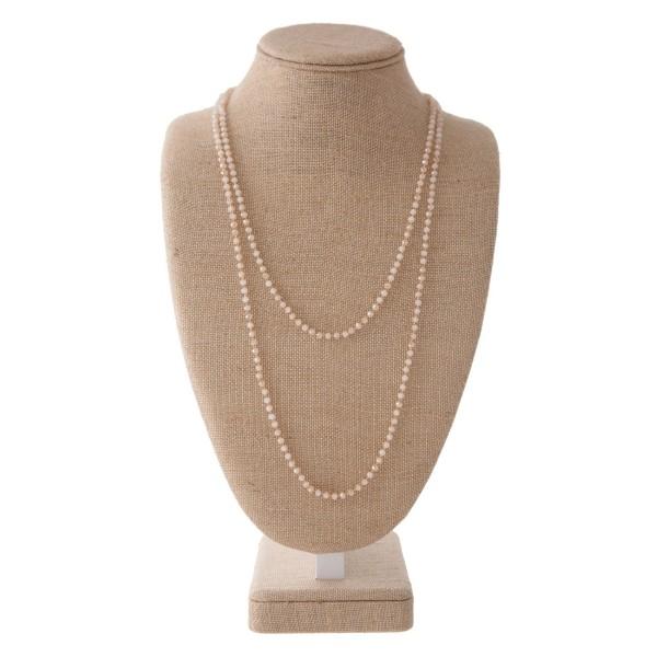 Wholesale long beaded necklace tear drop pendant