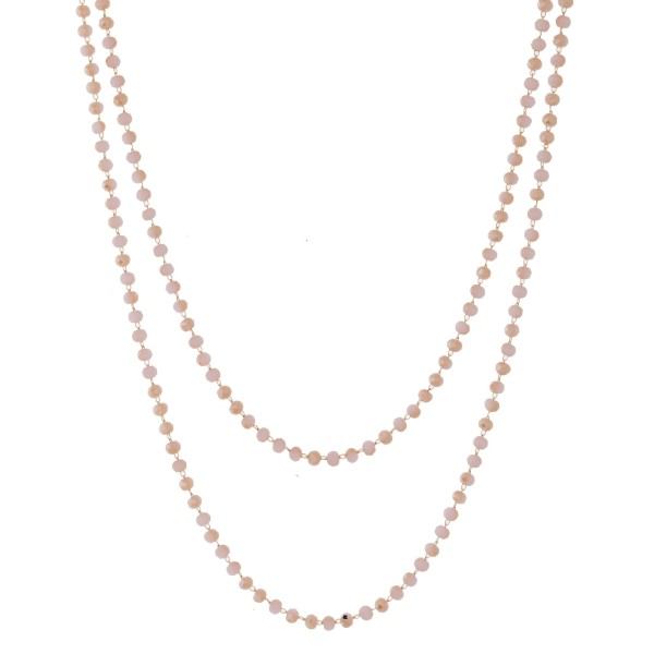 Wholesale gold toned long beaded necklace long