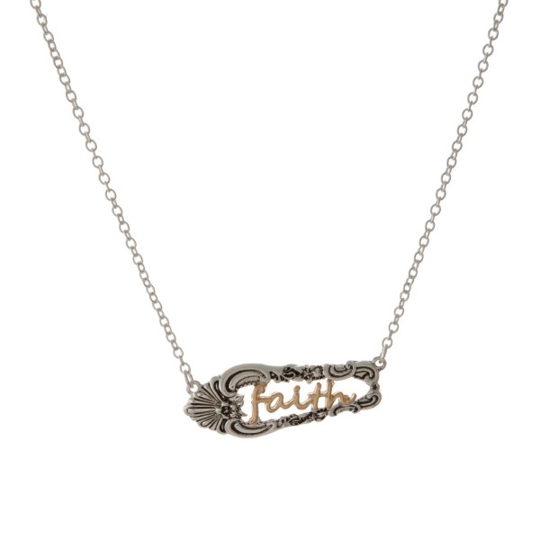 Wholesale two metal necklace encouraging message