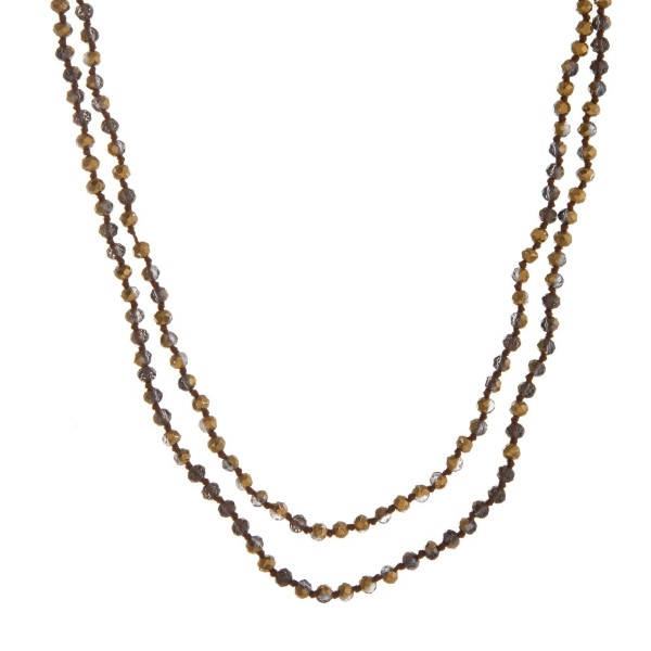 Wholesale long necklace faceted beads