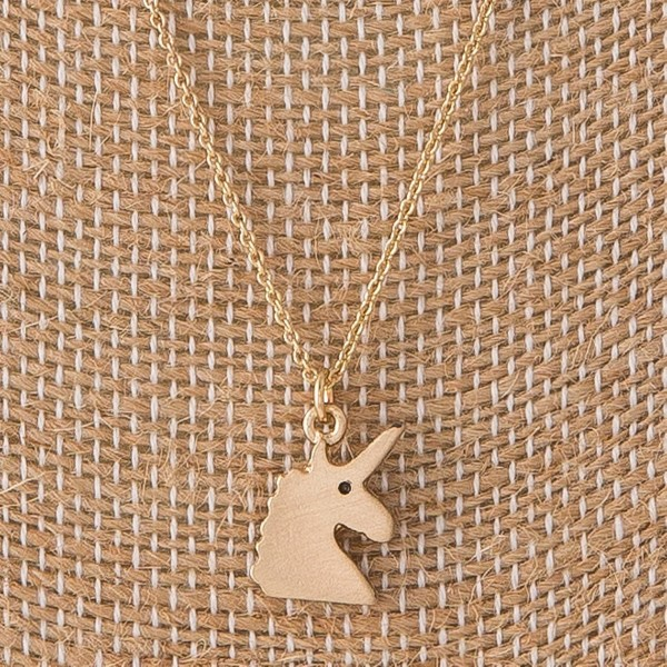 "Dainty necklace with unicorn charm. Approximately 16"" in length with a 1/2"" charm."
