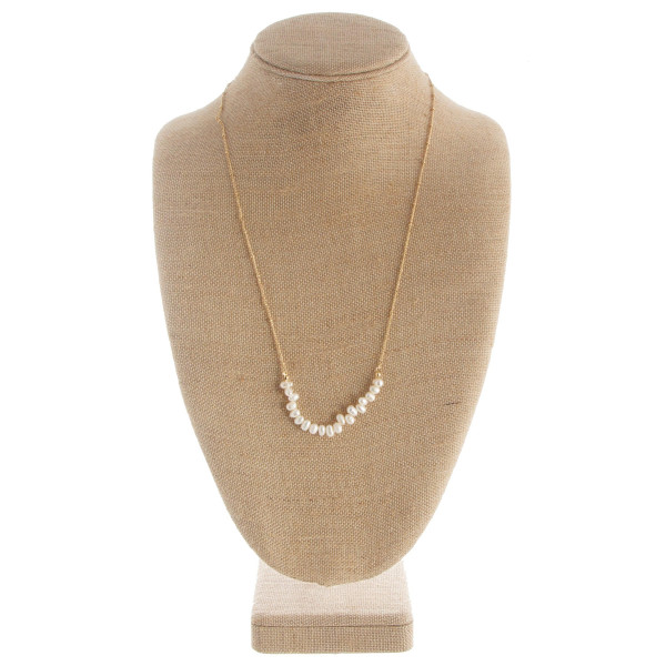 """Long pearl necklace. Approximate 24"""" in length."""