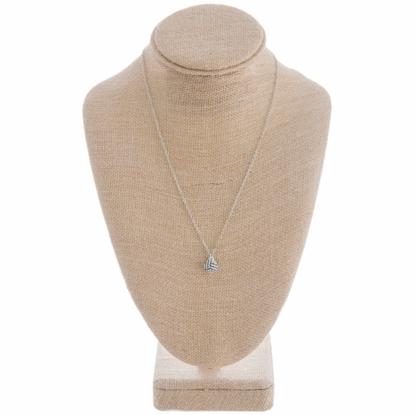 """Gorgeous volleyball pendant necklace with rhinestones. Approximate 20"""" in length."""