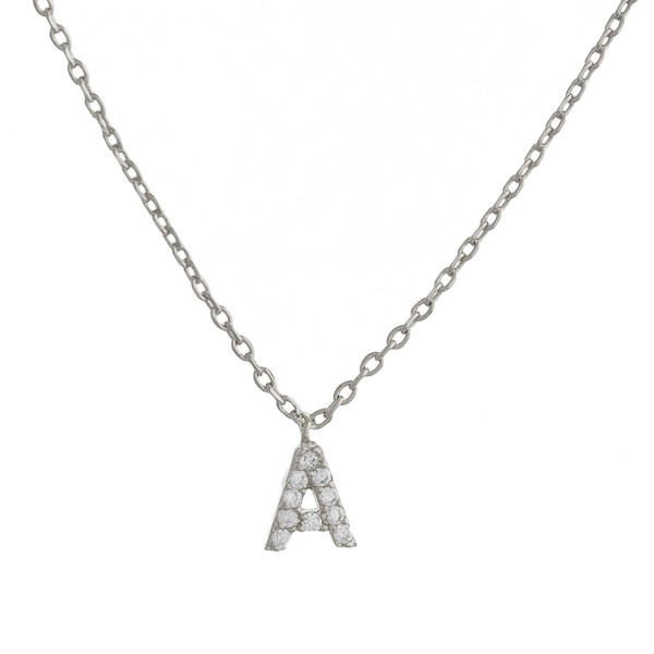 """Gorgeous initial pendant necklace. Dipped in gold. Approximate 20"""" in length with .5 pendant.  Letter """"A"""""""