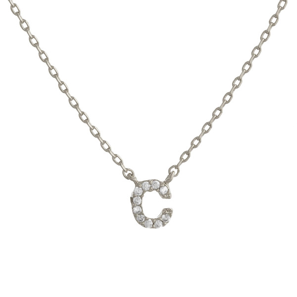 """Gorgeous initial pendant necklace. Dipped in gold. Approximate 20"""" in length with .5 pendant.  Letter """"C"""""""