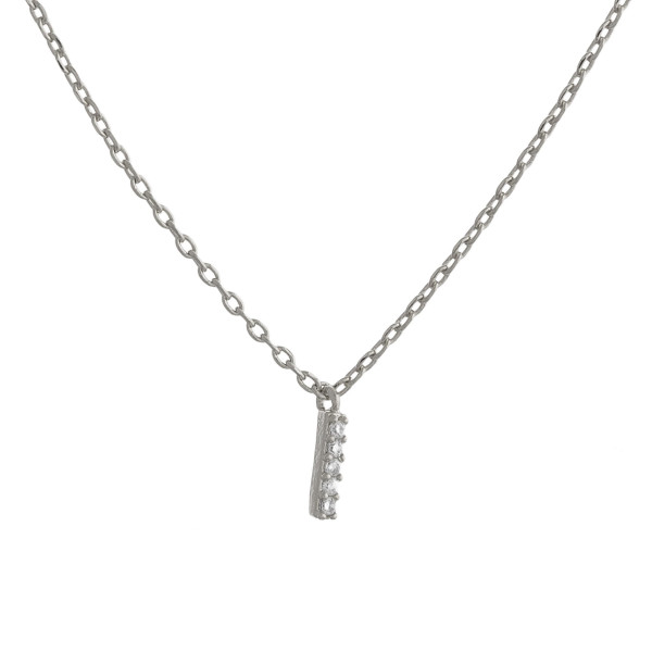 """Gold dipped necklace with initial """"I"""" pendant. Approximate 20"""" in length with 0.5"""" pendant."""