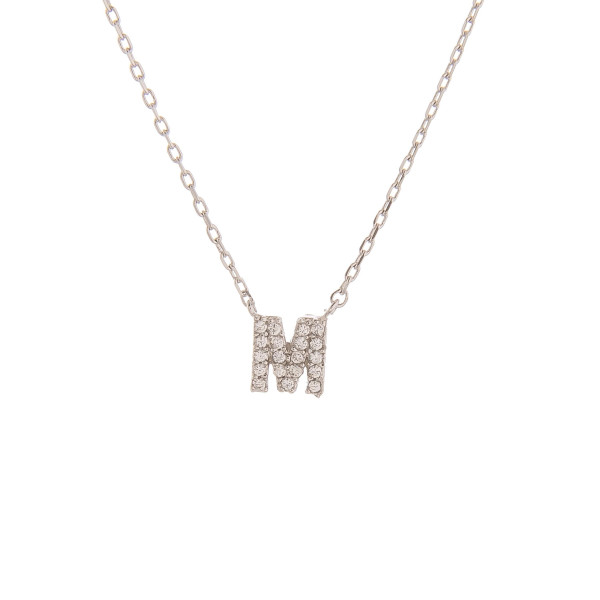 """Gorgeous initial pendant necklace. Dipped in gold. Approximate 20"""" in length with .5 pendant.  Letter """"M"""""""