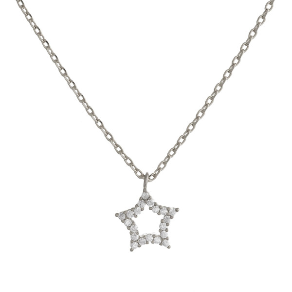 """Gold dipped necklace with small star pendant. Approximate 20"""" in length with .5"""" pendant."""