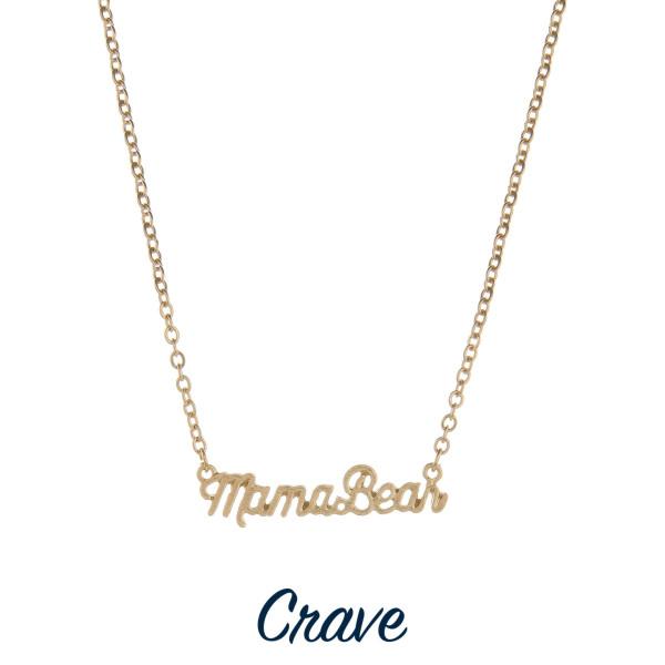 Wholesale gorgeous short necklace Mama bear pendant Approximate pendant