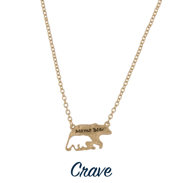 """Gorgeous necklace with Mama Bear pendant. Approximate 18"""" in length with 1"""" pendant."""