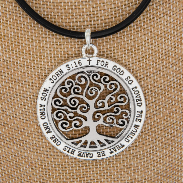 """Long leather rope necklace with pendant with some natural stone. Approximate 18"""" in length with 2.5"""" pendant."""