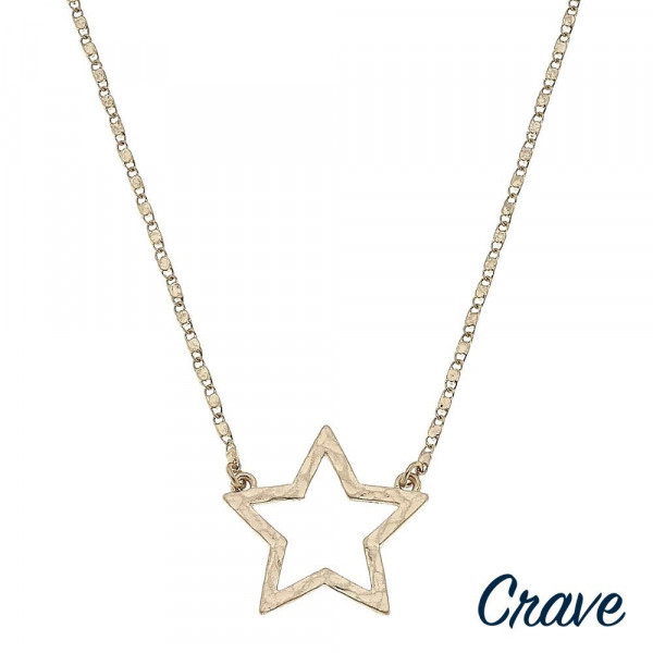 """Valentino chain necklace featuring a star pendant. Pendant approximately 1"""".  Approximately 18"""" in length overall."""