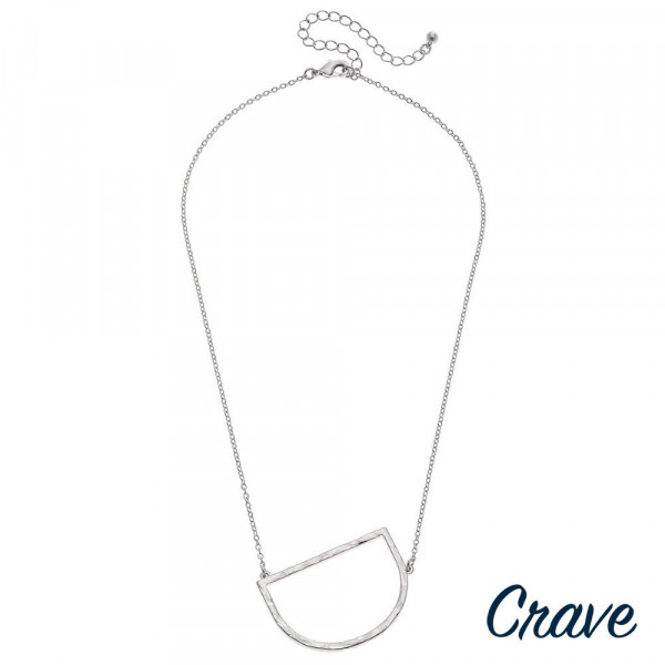 """Hammered initial """"D"""" necklace. Pendant approximately 1.75"""" in length. Approximately 18"""" in length overall."""
