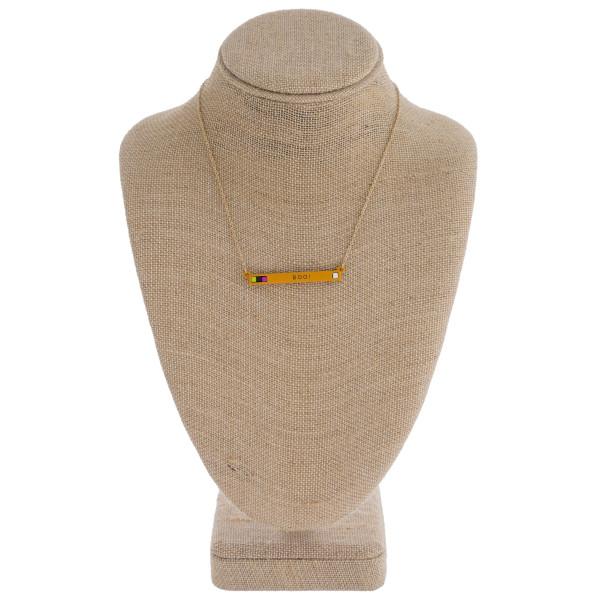 """Halloween Boo! bar necklace. Pendant approximately 2"""" in length. Approximately 16"""" in length."""