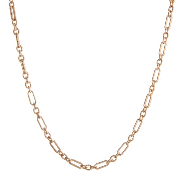"""Long gold cable chain linked necklace.  - Approximately 28"""" in length with 3.5"""" extender"""
