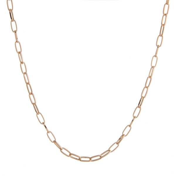 """Long gold cable chain necklace.  - Approximately 28"""" in length with 3.5"""" extender"""