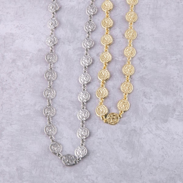 """Silver Greek coin necklace.  - Approximately 14"""" in length with 3.75"""" extender"""