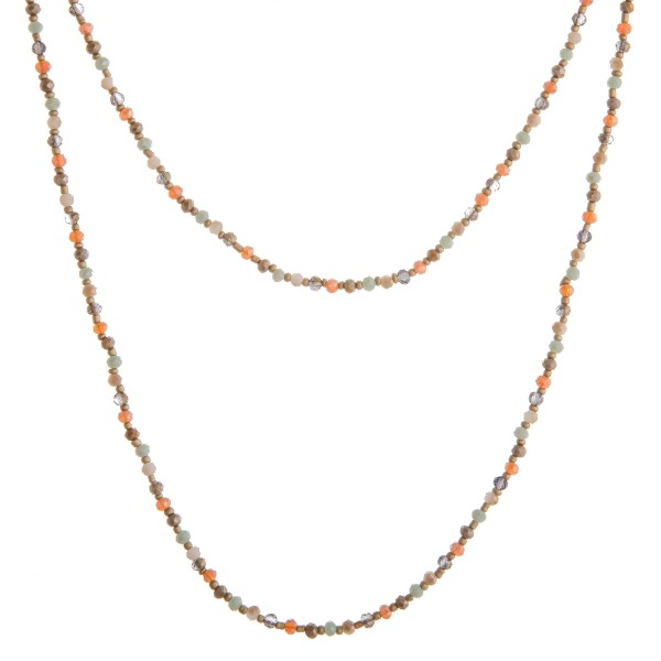 """Faceted beaded layered bohemian necklace.  - Shortest layer approximately 22"""" in length - Approximately 28"""" in length overall with 3.5"""" extender"""