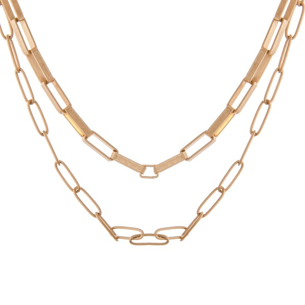 """Gold layered cable chain necklace.  - Approximately 14"""" in length with 3"""" extender"""