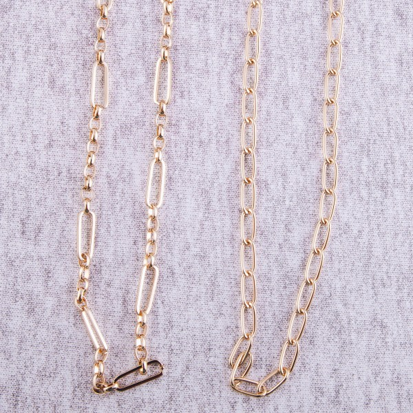 """Gold twisted cable chain necklace.  - Approximately 16"""" L with 3"""" extender"""