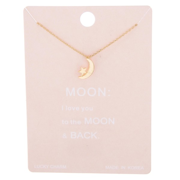 "Dainty star nested moon lucky charm necklace.  - Pendant approximately 1cm in diameter - Approximately 15"" L with 2"" extender"