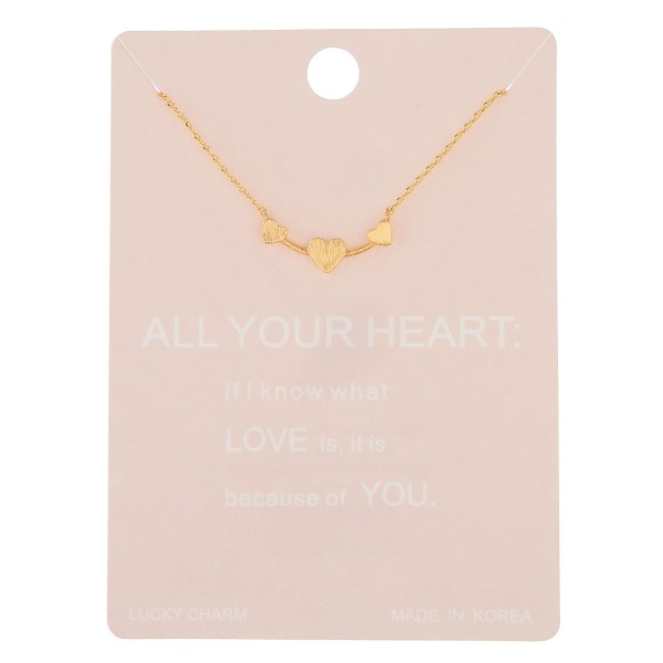 "Dainty All Your Heart lucky charm necklace.  - Pendant approximately 2cm - Approximately 16"" in length with 2"" extender"