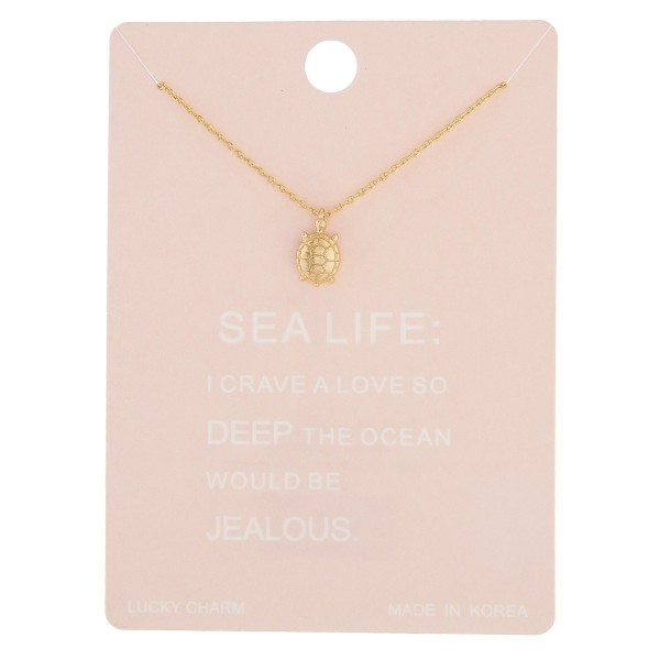"Dainty sea turtle lucky charm necklace.  - Pendant approximately 1cm - Approximately 16"" in length with 2"" extender"