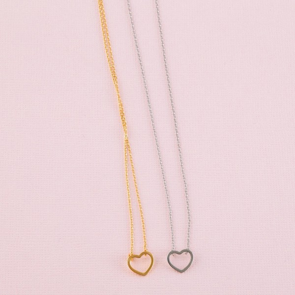 """Gold dipped open heart collar necklace.  - Pendant approximately 1cm  - Approximately 14"""" in length with 1"""" extender"""
