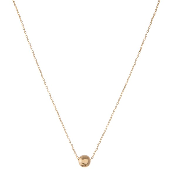 """Gold dipped ball bead collar necklace.  - Bead size approximately 5.5mm - Approximately 14"""" in length with 1"""" extender"""
