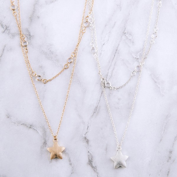 """Layered star necklace with clear acrylic accents.  - Shortest layer approx. 14""""  - Approximately 18"""" L with 3"""" extender"""