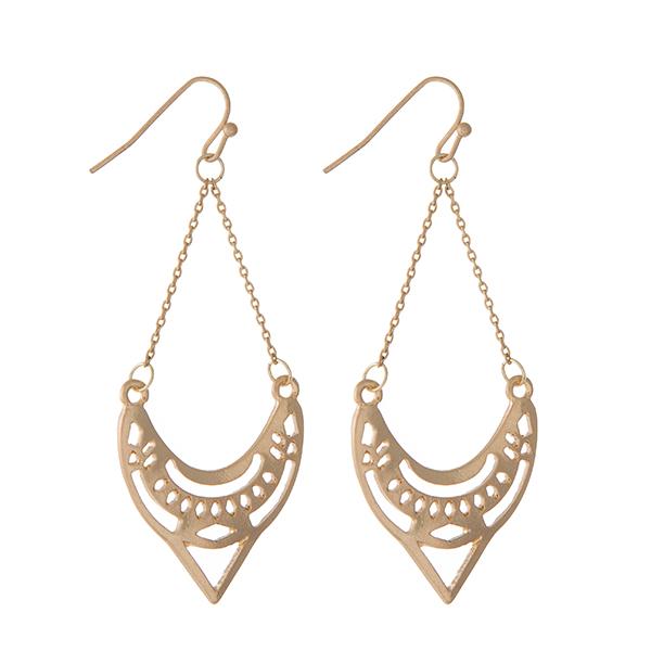 Wholesale gold laser cut earrings