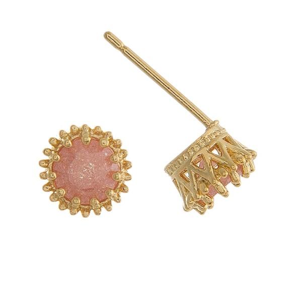 """Rhinestone stud earrings. Approximately 1/4"""" in size."""