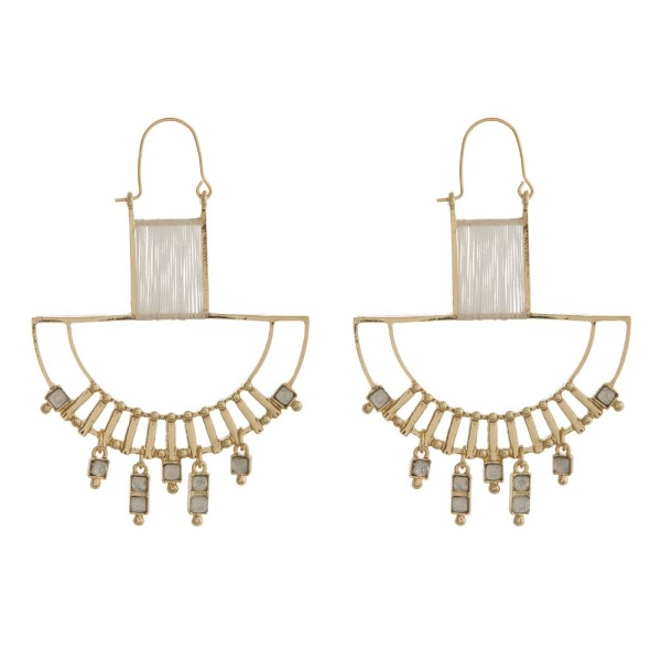 Wholesale metal earring rhinestone accent