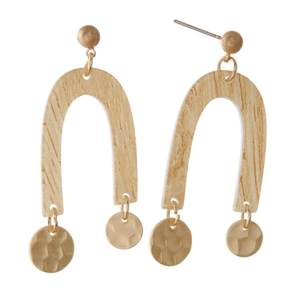 """Metal post earring with acetate design. Approximately 1.5"""" in length."""