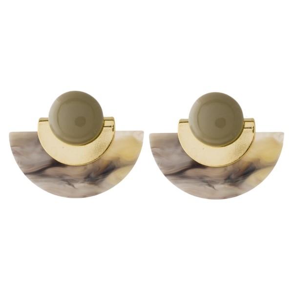 "Short acetate earring. Approximately 1"" x 1.5"""