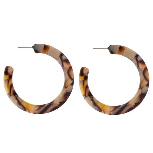 """Acetate hoop earring. Approximately 2"""" in diameter."""