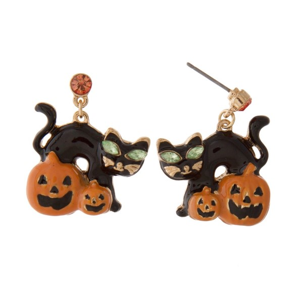 "Stud Halloween themed earring. Approximately 1"" in length."
