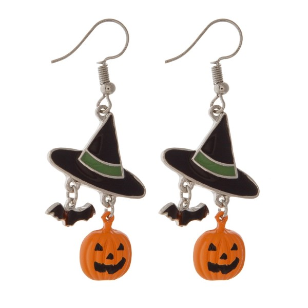 "Fishhook Halloween themed earring. Approximately 1"" in length."