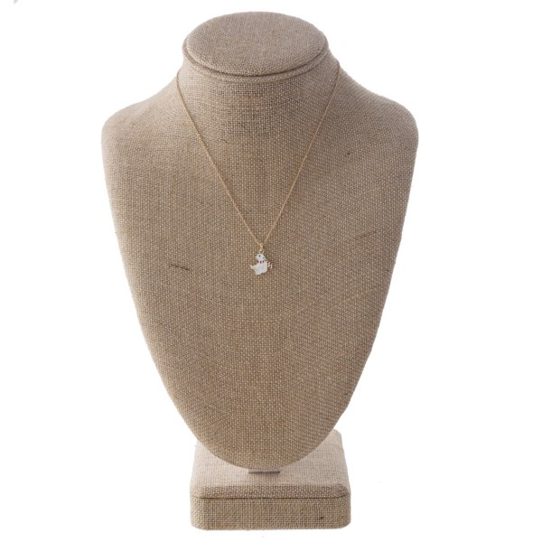 """Short necklace with polar bear necklace. Approximately 16"""" in length."""
