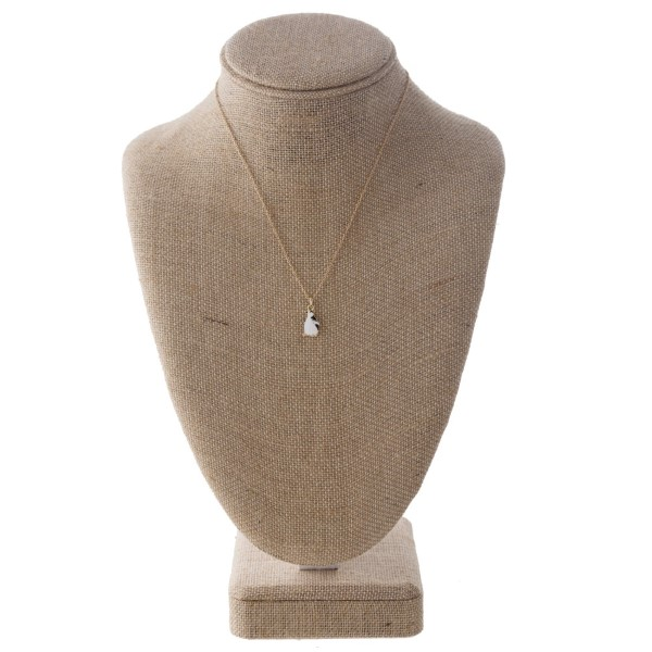 """Short necklace with penguin charm. Approximately 16"""" in length."""