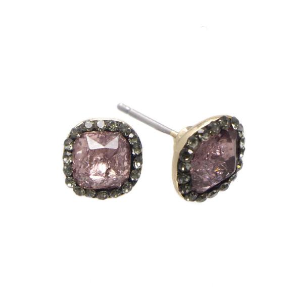 """Dainty rhinestone stud earrings. Approximately 1/4"""" in length."""