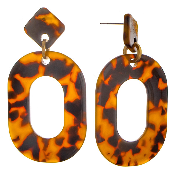 Long acetate earrings. Approximate 2.5 in length.