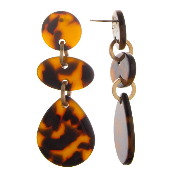 """Long earrings with acetate mix designs. Approximate 2"""" in length."""
