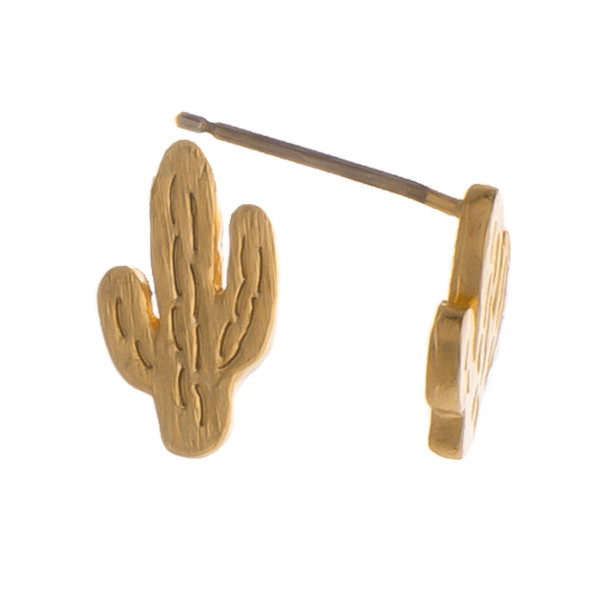 Gorgeous metal earring with cactus stud. Approximate 5mm.