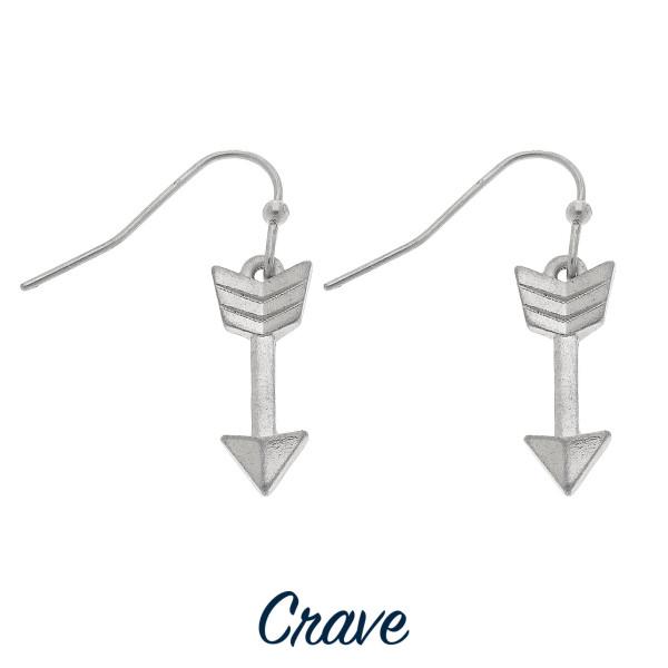 """Dainty arrow drop earrings. Approximately 3/4"""" tall"""