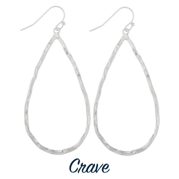 Long fishhook metal drop earrings. Approximate 2.5 in length.