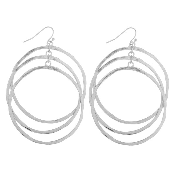 Wholesale long triple hoop earrings Approximate