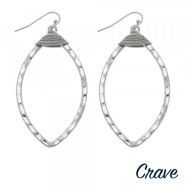 "Long leaf crave earrings. Approximate 3.5"" in length."